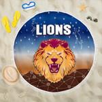 Brisbane Lions Beach Blanket Simple Indigenous