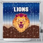 Brisbane Lions Shower Curtain Simple Indigenous