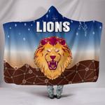 Brisbane Lions Hooded Blanket Simple Indigenous