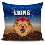 Brisbane Lions Pillow Cover Simple Indigenous