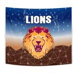 Brisbane Lions Tapestry Simple Indigenous