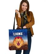 Brisbane Lions Tote Bag Simple Indigenous