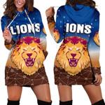 Brisbane Lions Women Hoodie Dress Simple Indigenous