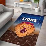 Brisbane Lions Area Rug Simple Indigenous