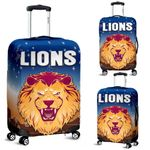 Brisbane Lions Luggage Covers Simple Indigenous