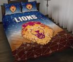 Brisbane Lions Quilt Bed Set Simple Indigenous