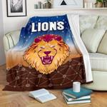 Brisbane Lions Premium Blanket Simple Indigenous