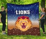Brisbane Lions Premium Quilt Simple Indigenous