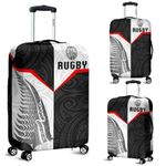 New Zealand Rugby Maori Luggage Covers Silver Fern Moko K8