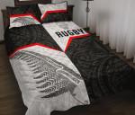 New Zealand Rugby Maori Quilt Bed Set Silver Fern Moko K8