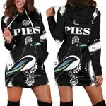 Collingwood Hoodie Dress Pies Indigenous - Black K8