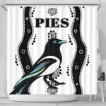 Collingwood Shower Curtain Pies Indigenous - White