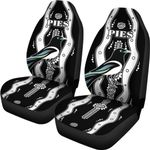 Collingwood Car Seat Covers  Pies Indigenous - Black