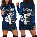 Carlton Women Hoodie Dress Blues Free Style Indigenous