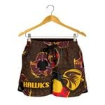 Hawthorn Women Shorts Hawks Indigenous - Brown
