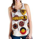 Hawthorn Women Racerback Tank Hawks Indigenous - White