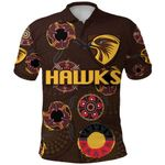 Hawthorn Polo Shirt Hawks Indigenous - Brown