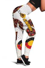 Hawthorn Women Leggings Hawks Indigenous - White