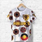 Hawthorn T Shirt Hawks Indigenous - White