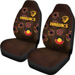 Hawthorn Car Seat Covers Hawks Indigenous - Brown