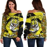 Richmond Women Off Shoulder Sweater Indigenous Tigers