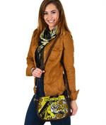 Richmond Leather Saddle Bag Indigenous Tigers
