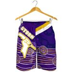 Storm All Over Print Men Shorts Indigenous Melbourne Front | rugbylife.co