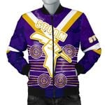 Storm Men Bomber Jacket Indigenous Melbourne Front | rugbylife.co