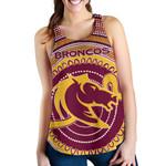Brisbane Racerback Tank Broncos Aboriginal TH5