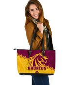 Broncos Large Leather Bag Brisbane Aboriginal K4