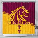 Broncos Shower Curtain Brisbane Aboriginal K4