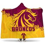 Broncos Hooded Blanket Brisbane Aboriginal K4