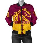 Broncos Bomber Jacket For Women Brisbane Aboriginal K4