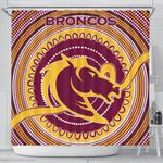 Brisbane Shower Curtain Broncos Aboriginal TH5