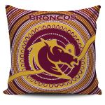Brisbane Pillow Cover Broncos Aboriginal TH5