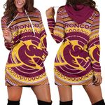 Brisbane Hoodie Dress Broncos Aboriginal TH5