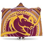 Brisbane Hooded Blanket Broncos Aboriginal TH5