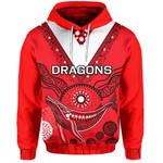 ST.George Hoodie Aboriginal Red