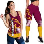 Combo Racerback Tank and Legging Brisbane Broncos TH4