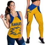 Combo Racerback Tank and Legging Eagles West Coast - Gold K8