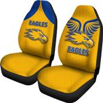 Eagles Car Seat Covers West Coast - Gold