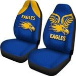 Eagles Car Seat Covers West Coast - Royal Blue