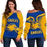 Eagles Women Off Shoulder Sweater West Coast - Royal Blue
