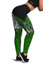 Manaia Mythology Leggings Silver Fern Maori Tattoo | 1st New Zealand