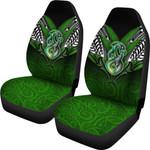 Manaia Mythology Car Seat Covers Silver Fern Maori Tattoo | 1st New Zealand