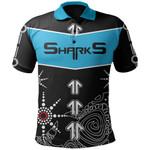 Sharks Polo Shirt Aboriginal Black