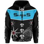 Sharks Zip-Hoodie Aboriginal Black
