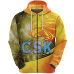 CSK Zip Hoodie Cricket Universe Energy Vibes