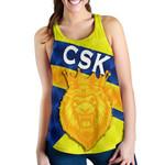CSK Women Racerback Tank Cricket Sporty Style