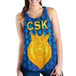 CSK Women Racerback Tank Cricket Traditional Pride - Blue